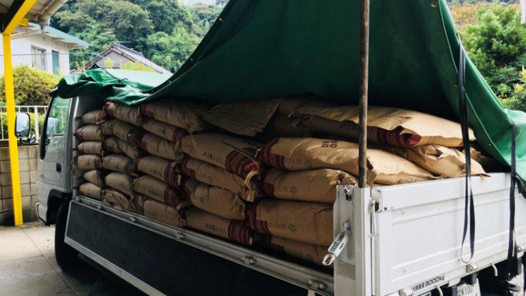 米穀販売卸白石商業自社流通トラック5