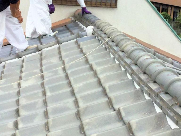 瓦屋根の工事は 藤原洋瓦