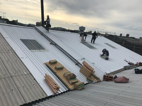 スレート屋根カバー工事4