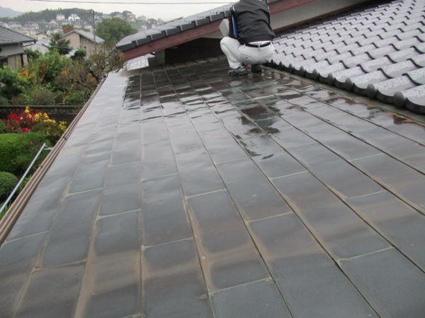 水巻板金屋根補修工事1